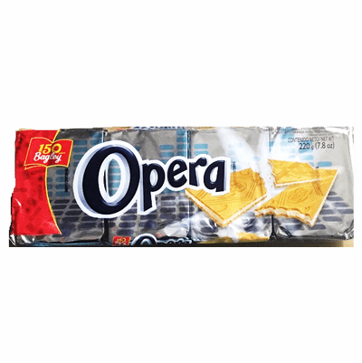 Opera Obleas con Sabor Naranja (Orange Flavor Wafers) Package 7.8oz  Containing 4 Packets of 2 oz each Argentina