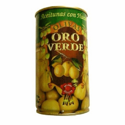 Oro Verde Aceitunas con Hueso (Green Whole Olives) 350g