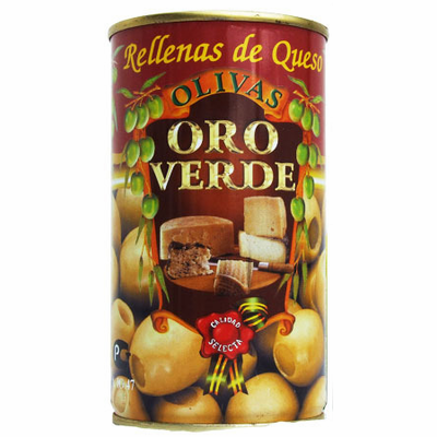 Oro Verde Stuffed with Cheese (Aceitunas Rellenas de Queso) Net Wt. 350g