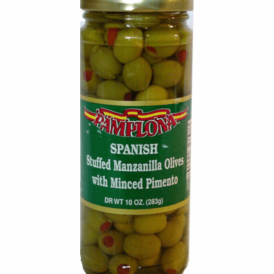 PAMPLONA Stuffed Manzanilla Olives (jar) 10oz