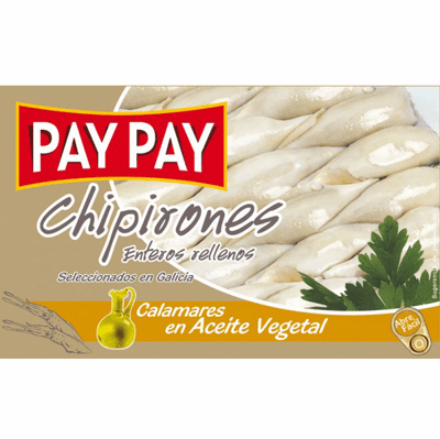 Pay Pay Chipirones Calamares en Aceite de Girasol (Stuffed Squids in Sunflowers Oil) 115g