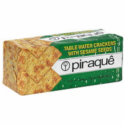 Piraque Table Water Crackers with sessame seeds 8.46 oz