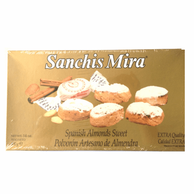 Sanchis Mira Polvoron Artesano de Almendra (Spanish Almonds Sweet) Calidad Extra 400g