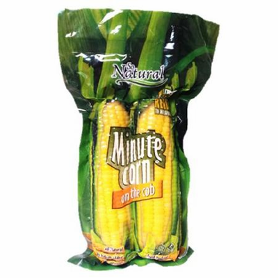 So Natural Minute Corn on the Cob (Mazorquitas de Maiz Tierno) Package Weighing 17.68 oz -2 cobs all natural- no Sodium Added- Fresh Packed