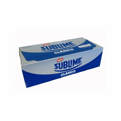 Sublime Chocolate Clasico con Leche con Mani 720 grs. ( 24 pieces x 30 grs. )