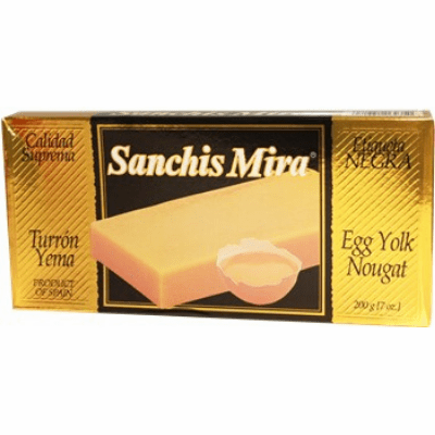 Turron de Yema Sanchis Mira 200 grs. (7oz.)