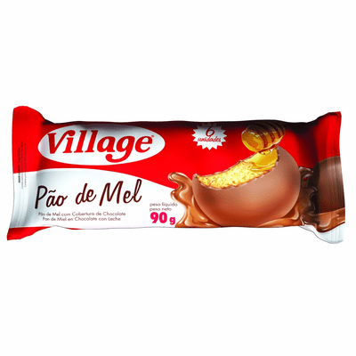 Village Pao De Mel honey Bread Covered with Milk Chocolate Net.Wt 90g