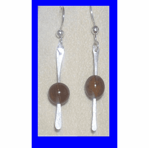 12th Century Celtic Linear Mammoth Bead Earrings II Mammoth Ivory Bead  $43.50
