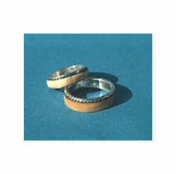 Braided Edge Wedding Ring or Commitment  Band