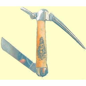 Case  X X  Scrimshaw  Sailors' Rigging Knife With Marlinspike