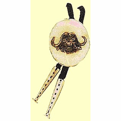 Classic  Scrimshaw Bolo Tie Available in 5 sizes Sterling Silver
