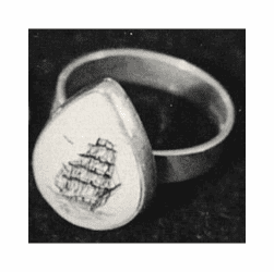 Classic Scrimshaw Ring In Sterling Silver