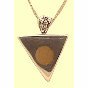 Contemporary Silver Talisman With Mammoth Ivory Inlay Reversible! With Whale Tail!