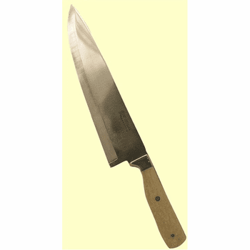 """Custom Kitchen Cutlery 440C Stainless Steel Hollow Ground Chef's Knife Fossil Walrus Ivory Handle 8"""" or 10"""" Blade"""