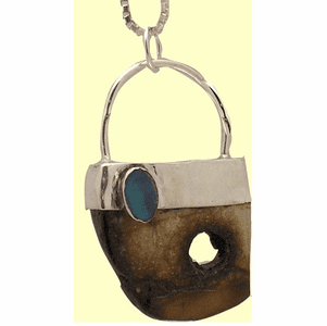 Dream Lock Amulet VII Reversible With Opal