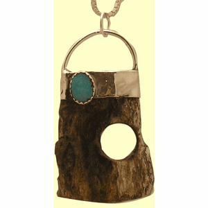 Dream Lock Amulet VIII  With Opal