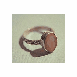 Fossil Ivory 14 KT Solid Gold or Sterling Silver Celtic Princess Ring