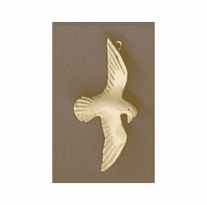 Fossil Ivory Hand Carved Peace Dove Pendant