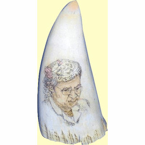 "Gallery ""Quiet Courage - Rosa Parks"" Scrimshaw Sperm Whale's Tooth"