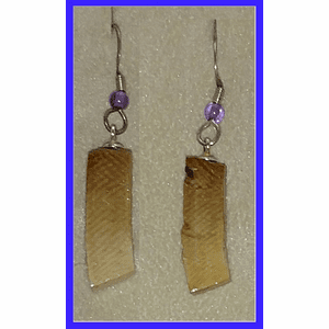Paleo Indian Mammoth Ivory Block Earrings