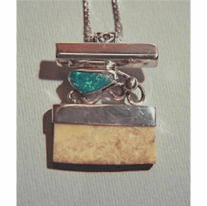 North  Siberian  Coast   Amulet  With Opal