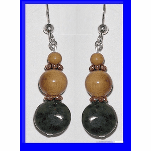 Pacific Athapascan Bead Earrings I Iridescent Freshwater Pearl and Mammoth Ivory $65.50