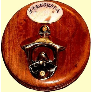 Personalized Bulkhead or Wall Mount Bottle Cap Opener With  Fossil Ivory