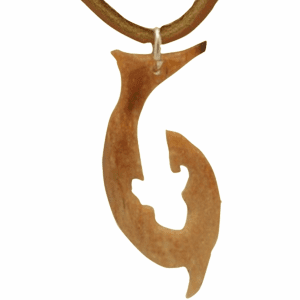 Polynesian Tiger Sharks Hei-Matau Carved Fossil  Ivory Sailor's Talisman