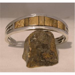 Rugged Mammoth Ivory Cuff Bracelet