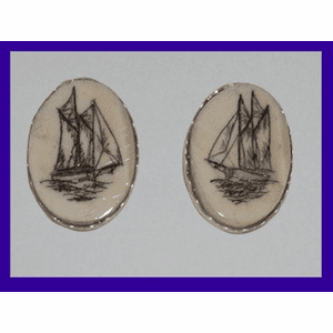 Scrimshaw Earrings Four Shapes and Sizes Fossil Ivory $64.50