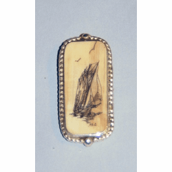 Scrimshaw Money Clip Sterling Silver