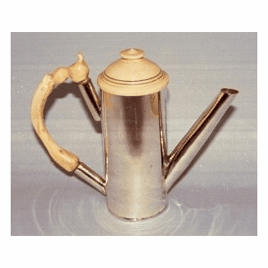Hand Wrought Fossil Mammoth Ivory and Sterling Silver Pitcher