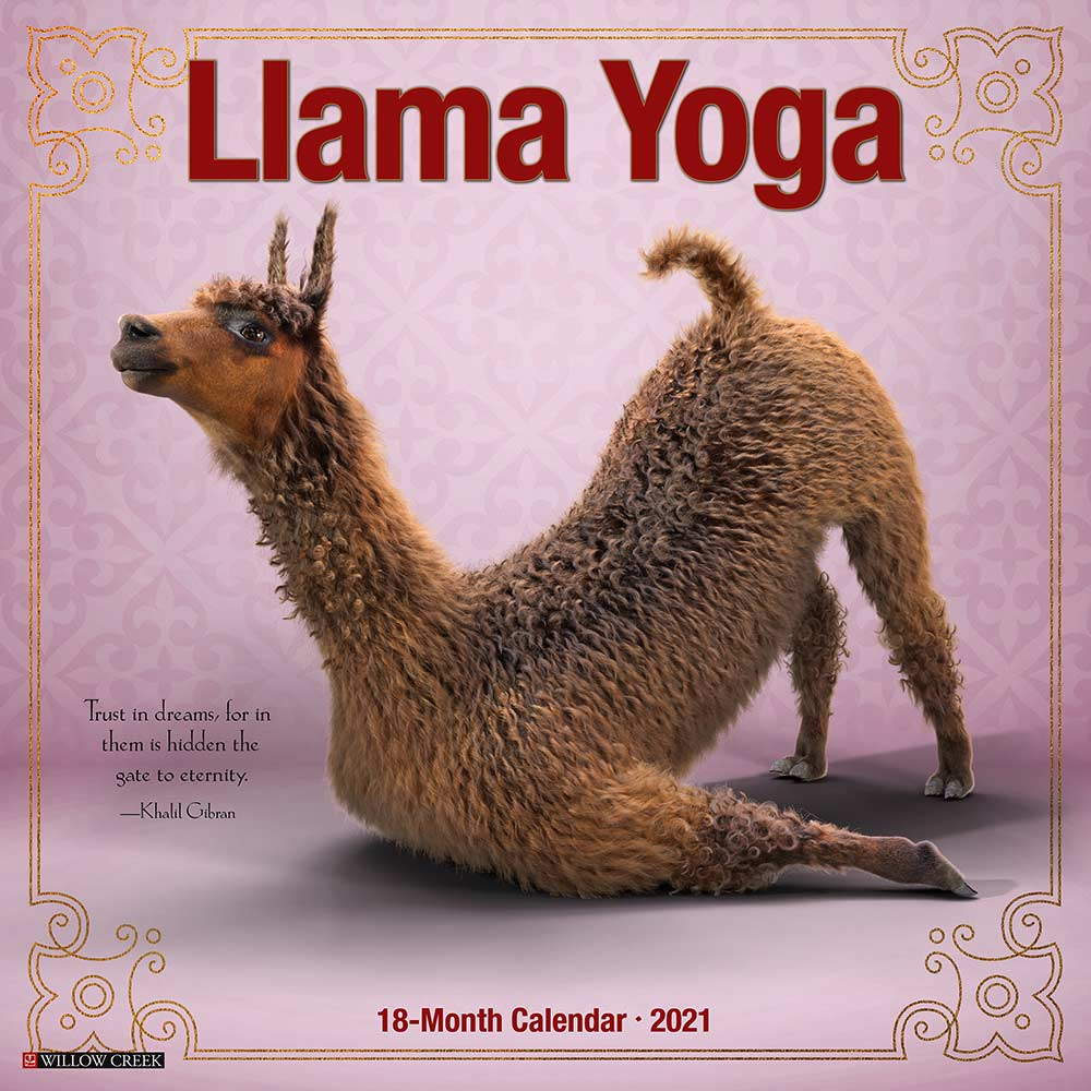 2021 Llama Yoga Calendar Willow Creek