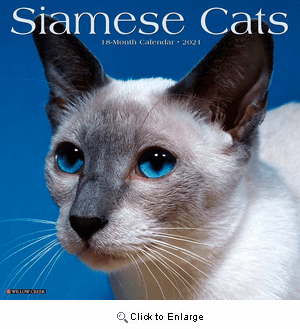 2021 Siamese Cats Calendar Willow Creek