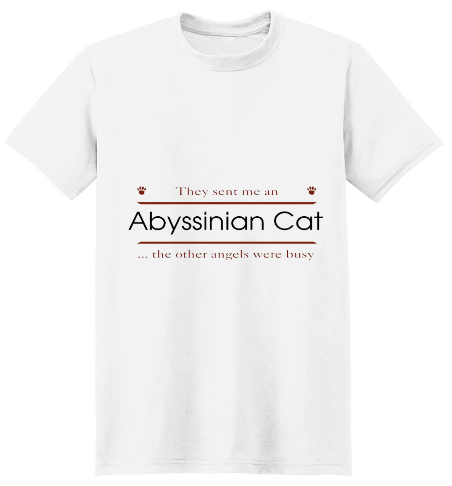 Abyssinian Cat T-Shirt - Other Angels