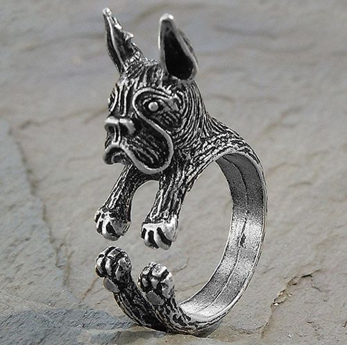 Adjustable Wrap Boston Terrier Ring