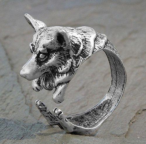 Adjustable Wrap Corgi Ring