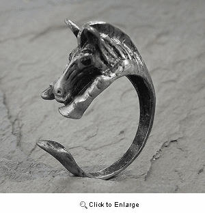 Adjustable Wrap Horse Ring