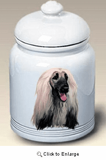 Afghan Hound Cookie Jar