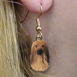 Afghan Hound Authentic Earrings
