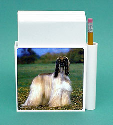 Afghan Hound Hold-a-Note