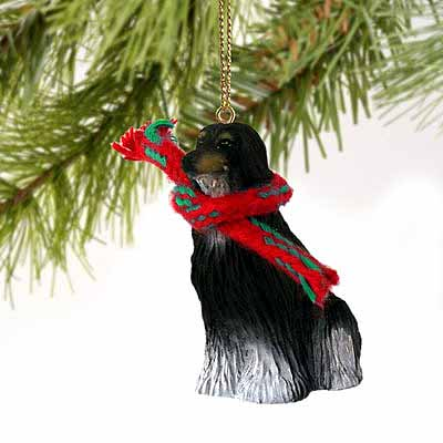Afghan Hound Tiny One Christmas Ornament Black-White