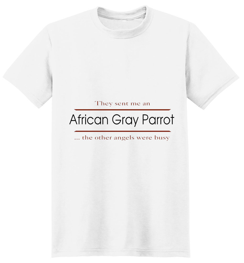 African Gray Parrot T-Shirt - Other Angels