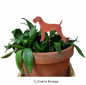 Airedale Terrier Plant Stake