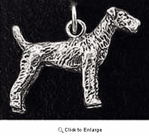 Airedale Terrier Sterling Silver Charm