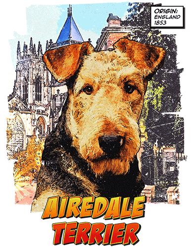 Airedale Terrier T-Shirt Ancestry