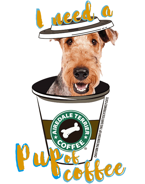 Airedale Terrier T Shirt - Coffee Mug