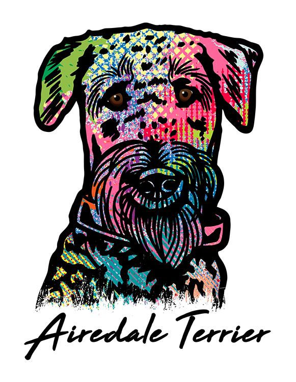 Airedale Terrier T Shirt Colorful Abstract