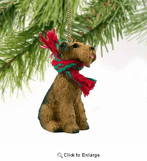 Airedale Terrier Tiny One Christmas Ornament