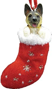 Akita Christmas Stocking Ornament